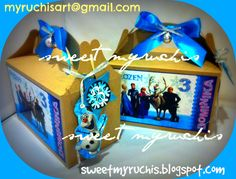 Fiesta Frozen, Ideas fiesta, Fiesta infantil, Fiesta Princesas, dulceros frozen myruchis.blogspot.com