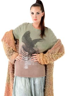 Oversize Sweater Cashmere Cross X-Ray: PEOPLE OF THE LABYRINTHS