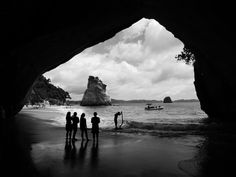 A beautiful bit of beach on the Coromandel Peninsula, with this natural archway.