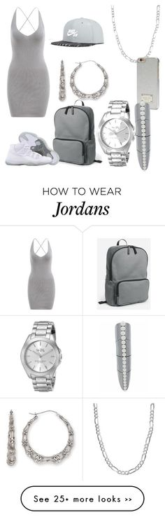 """""""Jordans and a dress"""" by life957 on Polyvore featuring Michael Kors, Sterling Essentials, Karapetyan, Coach and NIKE"""