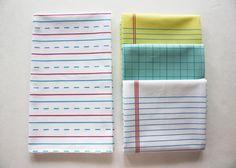 """paper towels""   cotton tea towel by dirtsastudio"