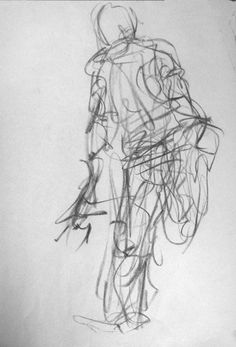 Spontaneous gesture drawing - student work - pencil