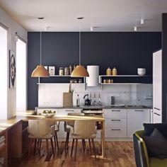 colour pallete,  дизайн проект студии 66м2 by SREDA | interior design, via Behance