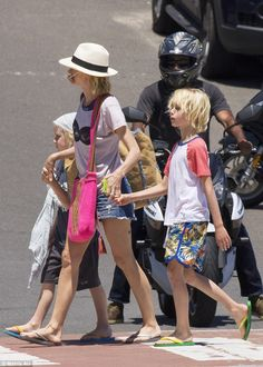 Fun in the sun: The family have been spotted out and about in Sydney over the past few day...