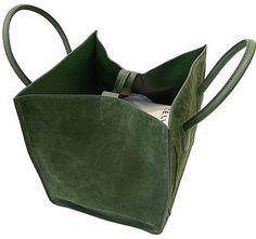 Celine Olive Green Suede Phantom Bag