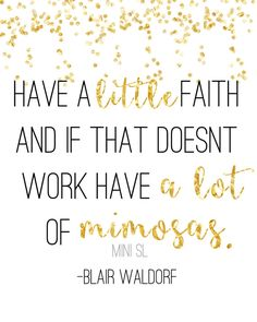 Blair waldorf gossip girl mimosas instant download print by MiniSL