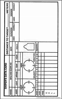 Résultat d'images pour sniper log book pdf