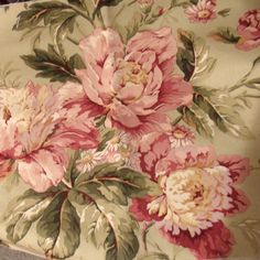 80s Waverly Floral Fabric Vintage Peonies by SweetRepeatVintage, SOLD