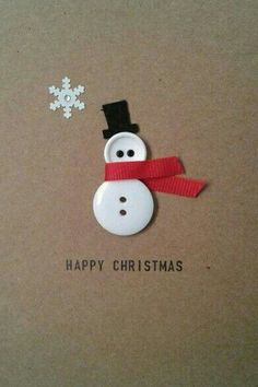 ▷ ideas - make Christmas cards - great gift ideas for you - DIY - Weihnachten - Noel Homemade Christmas Cards, Christmas Cards To Make, Homemade Cards, Christmas Holidays, Button Christmas Cards, Christmas Snowman, Christmas Greetings, Christmas Sayings, Christmas Buttons