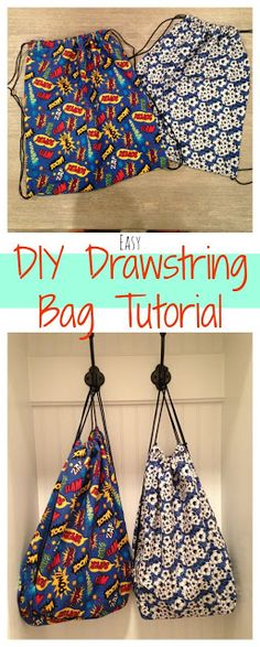 DIY Drawstring Sports Bag - The Chirping Moms sewing purses and bags
