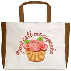 Just call me cupcake! Beach tote on CafePress