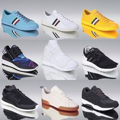 A small selection of spring/summer footwear for your delectation - if you are the winner of our competition we are currently running you could be picking yourselves some of these. See our previous posts for how to enter.  #adidas #adidasoriginals #tubularnova #reebok #ventilator #Y3 #qasa #qasahigh #boost #pureboost #yohjiyamamoto #igsneakercommunity #moncler #philipbrownemenswear
