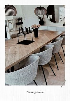 Home Salon, Küchen Design, Living Room Inspiration, Dining Room Chairs, Sweet Home, New Homes, Kitchen, Table, Rattan