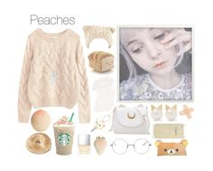 """Peaches and Cream"" by k1l3y ❤ liked on Polyvore featuring art"
