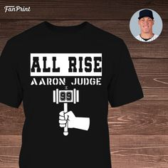 This all rise Aaron Judge T-Shirt will make you more chance to give support for Aaron Judge. Baseball League, Digital Printer, Looks Great, Mens Tops, T Shirt, Style, Fashion, Supreme T Shirt, Swag