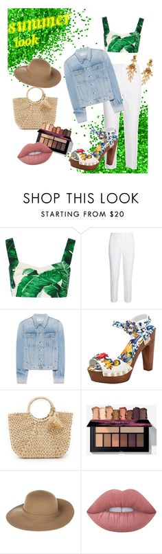 """Summer"" by explorer-14831102427 ❤ liked on Polyvore featuring Dolce&Gabbana, Michael Kors, rag & bone, Hat Attack, Armani Jeans, Lime Crime and Oscar de la Renta"