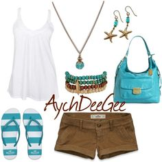 """Brown and Turquoise"" by aychdeegee on Polyvore"