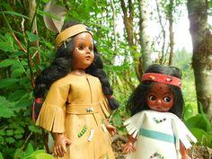 Indian Girl Dolls: Set of 2 Vintage Indian by SheerTrashRoadshow