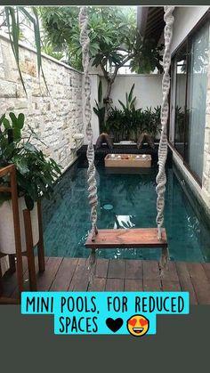 Small Swimming Pools, Small Pools, Swimming Pools Backyard, Swimming Pool Designs, Lap Pools, Indoor Pools, Pool Decks, Small Backyard Design, Small Backyard Landscaping