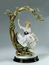 Giuseppe ArmaniYoung Lady On Swing One Of A Kind Coloration
