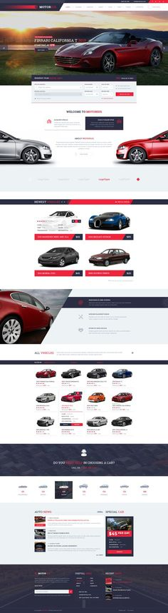 Motorius — Exclusive Sell/Rent Cars PSD Template - PSD Templates: