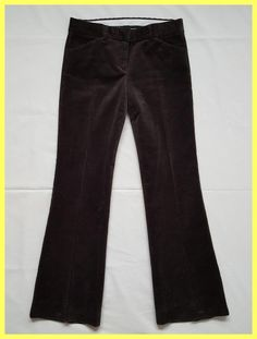 Theory Corduroy Bootcut Flare Trouser Pants. Free shipping and guaranteed authenticity on Theory Corduroy Bootcut Flare Trouser PantsExcellent Pre-owned Condition Theory Brown Olive S...