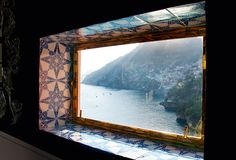View of Positano from Franco Zeferelli's home.  Who cares about the decor...