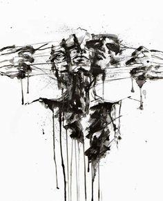 A few works by my favorite artist Agnes Cecile - Kunst - Art Sketches Agnes Cecile, Arte Obscura, Ouvrages D'art, Dark Art Drawings, Arte Sketchbook, A Level Art, Wow Art, Horror Art, Art Plastique