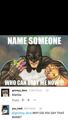 He shouldnt be called batman Marvel Jokes, Marvel Dc Comics, Robin Comics, Stupid Funny, Funny Jokes, Hilarious, Funny Stuff, Rasengan Vs Chidori, Superhero Memes