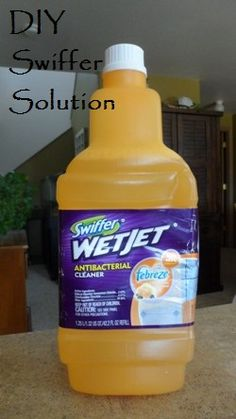Why buy replacement pads and cleaning solution for your Swiffer mop when you can make your own??