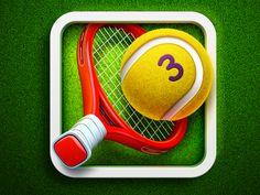 Hit Tennis 3 #App #Icon #design