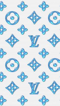 Cute Black Wallpaper, Happy Wallpaper, Cute Patterns Wallpaper, Retro Wallpaper, Cute Wallpaper Backgrounds, Pretty Wallpapers, Wallpaper Ideas, Blue Backgrounds, Louis Vuitton Background