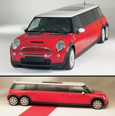 Mini Cooper Limousine      Cool Mini XXL Limo features Mini Cooper S engine and tuning kit