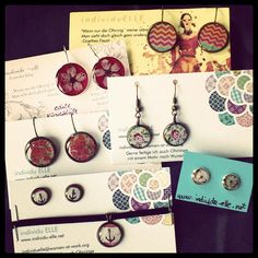 spring collection #jewelry #earrings #romantic #flowers #cabochon #diy #handmade