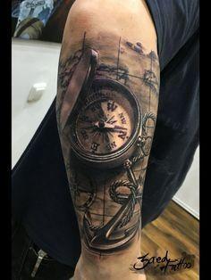 Tattoo-Foto: Kompass