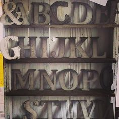 5    6 Metal Letters by TheTinBarnShop on Etsy