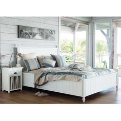 Letto bianco 160 x 200 in pino | Maisons du Monde