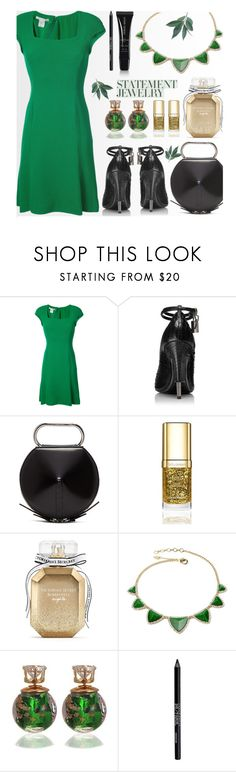 """Green leaves"" by shikha7710 ❤ liked on Polyvore featuring Oscar de la Renta, 3.1 Phillip Lim, Dolce&Gabbana, Victoria's Secret, Amrita Singh, Urban Decay, Giorgio Armani, contestentry and polyPresents"