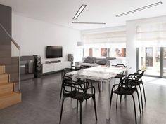 pracownia symetria/ warzelnia/ salon / beton / kartell /