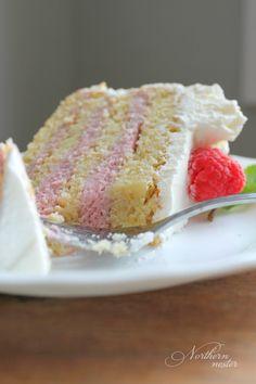Lemon Raspberry Mousse Cake | THM: S