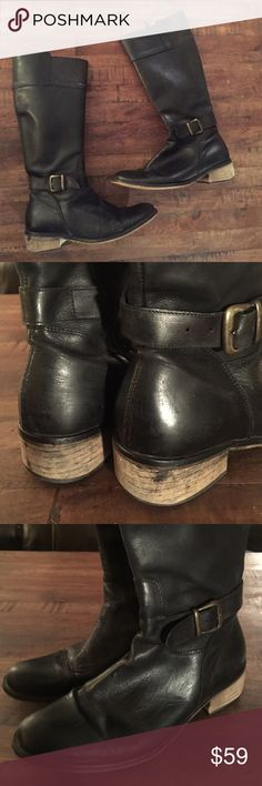 Jeffery Campbell boots Black, leather, great used condition! Made in Spain Jeffrey Campbell Shoes