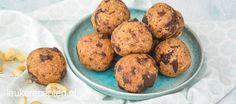 Cookie Dough Balletjes - Leuke recepten High Tea, Healthy Recipes, Healthy Food, Cookie Dough, Dips, Muffin, Cookies, Breakfast, Dressings