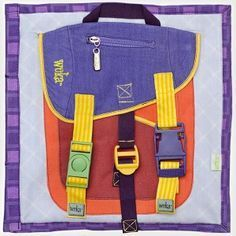 Quiet/busy book ~~ those pesky backpack buckles. Sometimes adults need help with these! Diy Quiet Books, Baby Quiet Book, Felt Quiet Books, Quiet Time Activities, Summer Activities For Kids, Indoor Activities, Family Activities, Busy Bags, Kids Bags