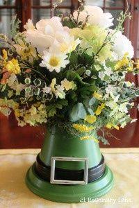 Luck of the Leprechaun center piece/flower arrangement St. Patrick's Day