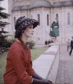 Life magazine -1950's Dior fashion.
