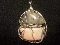 Tourmalated Quartz / Pink Opal --- #2 Pink Opal, Quartz, Creative, Jewelry, Jewlery, Jewerly, Schmuck, Jewels, Jewelery