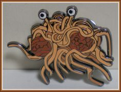 Flying Spaghetti Monster with LSD & DMT Molecule Meatballs Grateful Dead/Phish Hat / Lapel Pin / Badge Limited Edition Numbered of 100