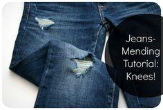 Gaten in jeans repareren!