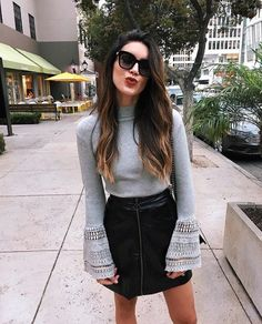 The new is on point, loving these bell sleeves- so cozy for fall! Spring Outfits, Winter Outfits, Vegan Clothing, Denim Trends, Autumn Street Style, Mode Style, Who What Wear, Autumn Winter Fashion, Dress To Impress