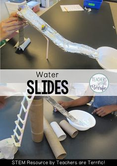 STEM Challenge- Build a water slide using simple materials and test it with WATER!
